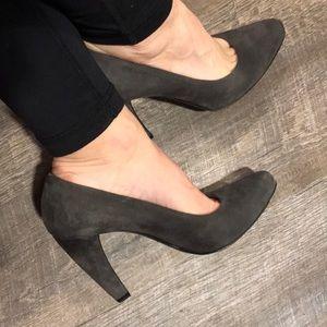 PRADA GRAY SUEDE pumps / heels ▪️sz 7.5